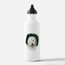 old english sheepdog portrait Water Bottle