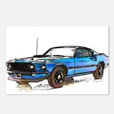 MUSTANG MACH 1 FASTBACK 1969 Postcards (Package of