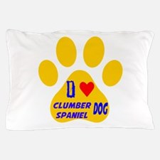 I Love Clumber Spaniel Dog Pillow Case