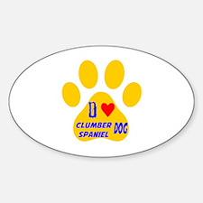 I Love Clumber Spaniel Dog Decal