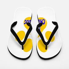 I Love Chinook Dog Flip Flops