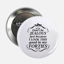 """Look Good Forties 2.25"""" Button (10 pack)"""