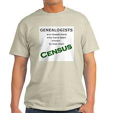 Genealogy Losing Census (Green) T-Shirt