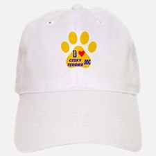 I Love Cesky Terrier Dog Baseball Baseball Cap