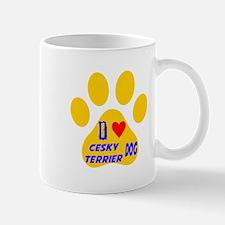 I Love Cesky Terrier Dog Mug