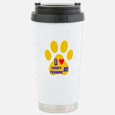 I Love Cesky Terrier Do Stainless Steel Travel Mug