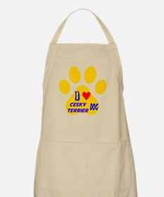 I Love Cesky Terrier Dog Apron