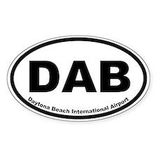 Daytona Beach International Airport Oval Decal