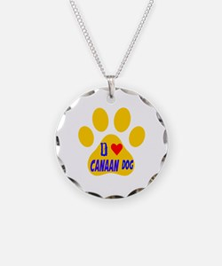I Love Canaan Dog Necklace