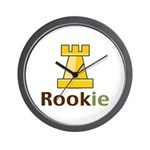Rook Rookie Chess Piece Wall Clock