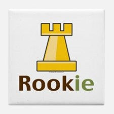 Rook Rookie Chess Piece Tile Coaster