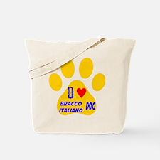 I Love Bracco Italiano Dog Tote Bag