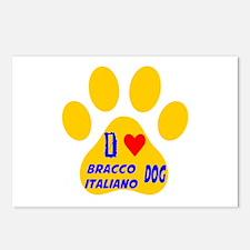 I Love Bracco Italiano Do Postcards (Package of 8)