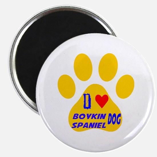 I Love Boykin Spaniel Dog Magnet