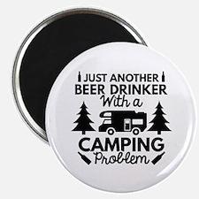 "Beer Drinker Camping 2.25"" Magnet (10 pack)"