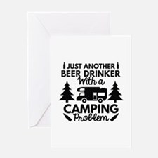 Beer Drinker Camping Greeting Card