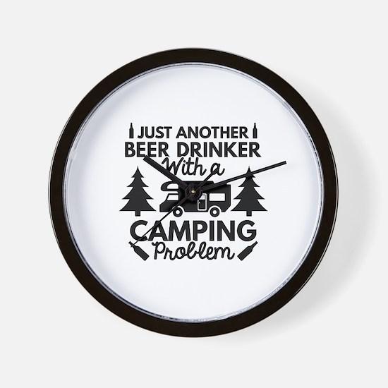 Beer Drinker Camping Wall Clock