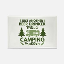 Beer Drinker Camping Rectangle Magnet