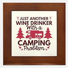 Wine Drinker Camping Framed Tile