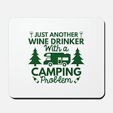 Wine Drinker Camping Mousepad