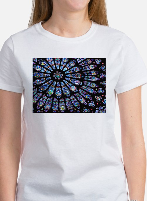 Stained glass window Notre Dame T-Shirt