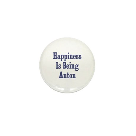 Happiness is being Anton Mini Button (10 pack)