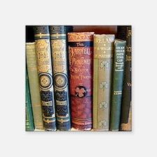 """Cute Bookshelf Square Sticker 3"""" x 3"""""""