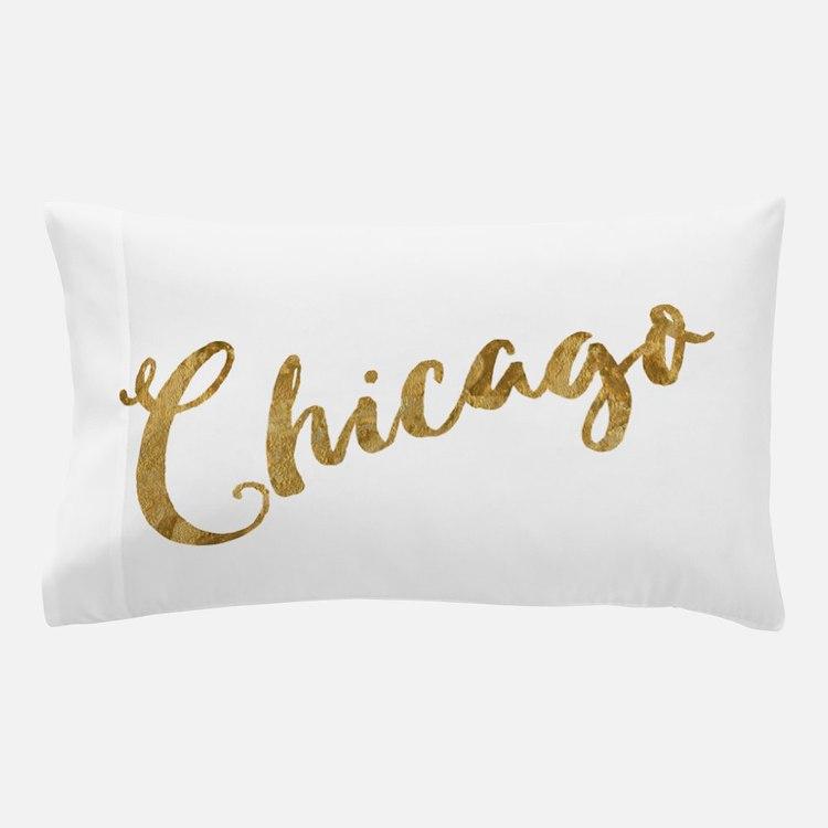 Golden Look Chicago Pillow Case