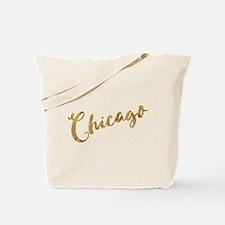 Golden Look Chicago Tote Bag