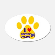 I Love Berger Picard Dog Wall Decal