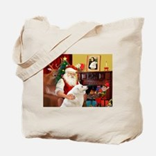 Santa's Kuvasz Tote Bag