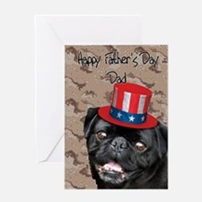 Father's Day Pug Dog Greeting Cards