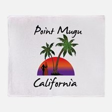 Point Mugu Throw Blanket