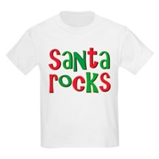 Santa Rocks Christmas Holiday T-Shirt