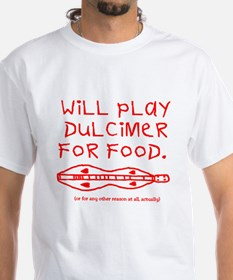 will play dulcimer for food red T-Shirt