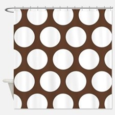 Large Polka Dots: Chocolate Brown Shower Curtain