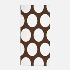 Large Polka Dots: Chocolate Brown Beach Towel