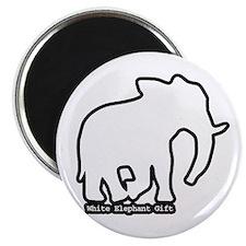 White Elephant Gift Magnet