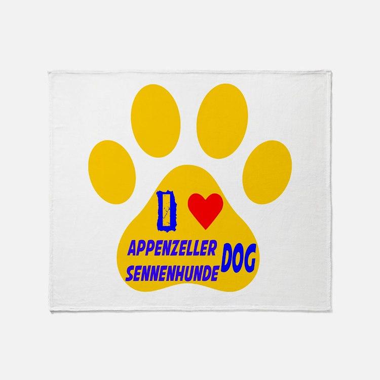 I Love Appenzeller Sennenhunde Dog Throw Blanket