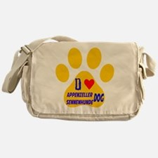 I Love Appenzeller Sennenhunde Dog Messenger Bag