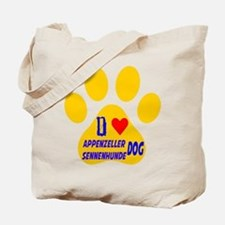 I Love Appenzeller Sennenhunde Dog Tote Bag