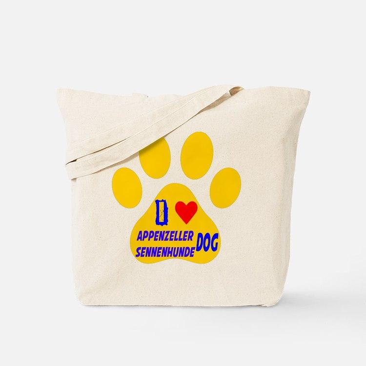 I Love Appenzeller Sennenhunde Dog Tote Bag