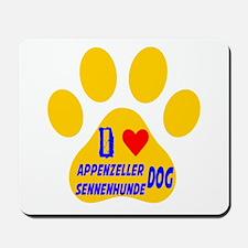 I Love Appenzeller Sennenhunde Dog Mousepad
