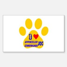 I Love Appenzeller Sennenhunde Decal
