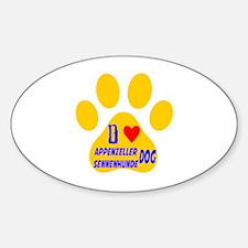 I Love Appenzeller Sennenhunde Dog Decal