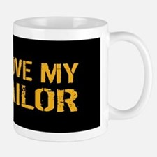 U.S. Navy: I Love My Sailor (Black) Mug