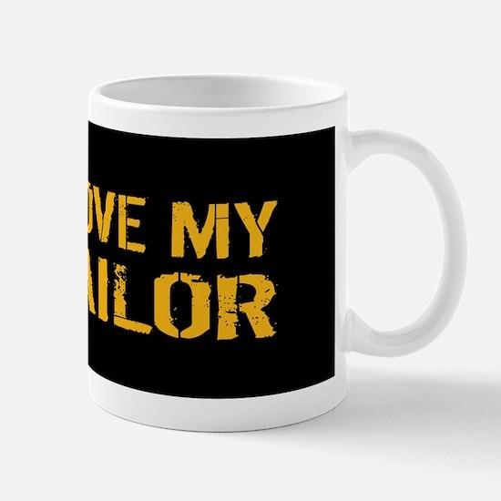 U.S. Navy: I Love My Sailor (Black) Mug