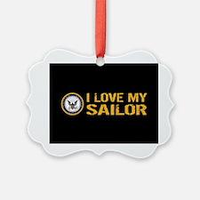 U.S. Navy: I Love My Sailor (Blac Ornament