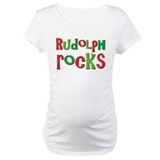 Rudolph Rocks Christmas Reindeer Shirt