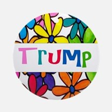 Trump Daisy Design Round Ornament